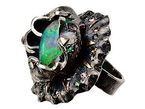 кольцо серебряное сопалом, кольцо сопалом фото