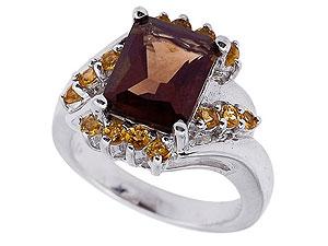 кольцо раухтопаз, кольца сраухтопазом фото