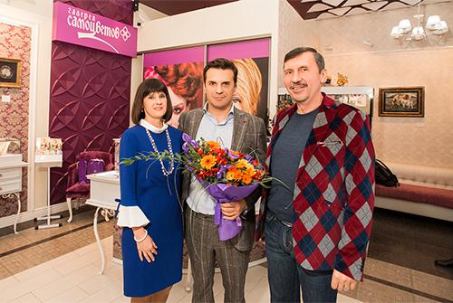 Владельцы ювелирного холдинга «Галерея самоцветов» Влад иМаргарита Денисовы иСергей Астахов