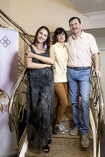 Татьяна Лютаева, Влад иМаргарита Денисова всалоне премиум класса «Галерея самоцветов»