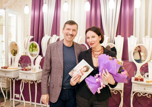 Алика Смехова иВладислав Денисов владелец ювелирного холдинга «Галерея самоцветов»