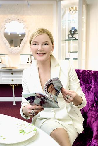 Известная телеведущая Лариса Вербицкая посетила VIP-салон «Галереи самоцветов»